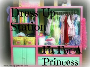 DIY Dress up Station, fit for a princess out of an old entertainment center!!