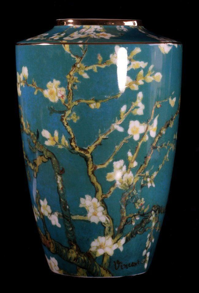 Vaso di porcellana artistico Vincent Van Gogh : Ramo di mandorlo in fiore, Goebel