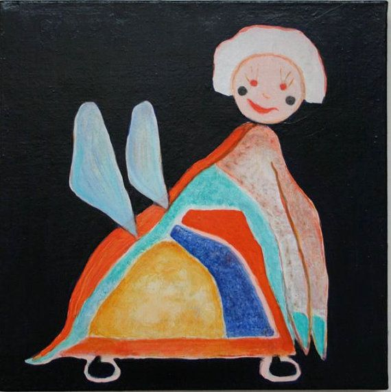 Fairy Godmother 1 by EluGallery on Etsy, $200.00 Great for a kid's room!