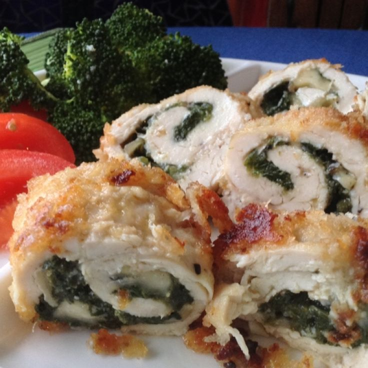 This Recipe For Stuffed Chicken Camembert And Spinach