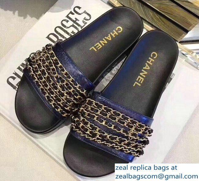 Chanel Chain Mules Slipper Sandals