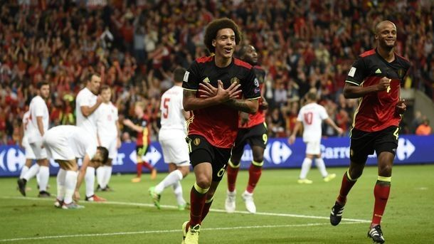 The fantastic goal was scored by Axel Witsel in gate of Gibraltar