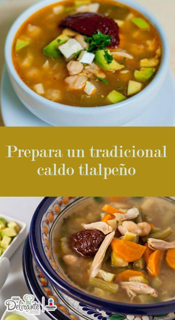 Te compartimos la receta original para que te atrevas a preparar un delicioso caldo tlalpeño.