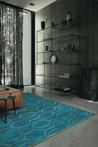 Order the Wedgwood Arris Teal Designer Wool Rug to add a touch of style to your lounge room