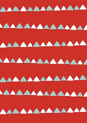 Pikku Kakkosen tulostettavia joulupapereita askarteluun: Kolmiorivit 1. Free printable patterns. lasten | askartelu | joulu | käsityöt | koti | DIY ideas | kid crafts | christmas | home | Pikku Kakkonen
