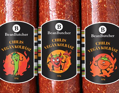 """Check out new work on my @Behance portfolio: """"BeanButcher Vegan salami branding and packaging"""" http://be.net/gallery/60329687/BeanButcher-Vegan-salami-branding-and-packaging"""