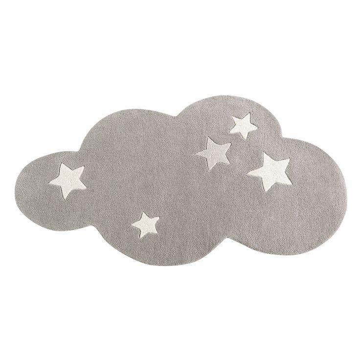 Kurzhaarwollteppich Wolke, grau, 70x130 | Maisons du Monde