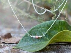 Křemínkový jemný Ag náhrdelník
