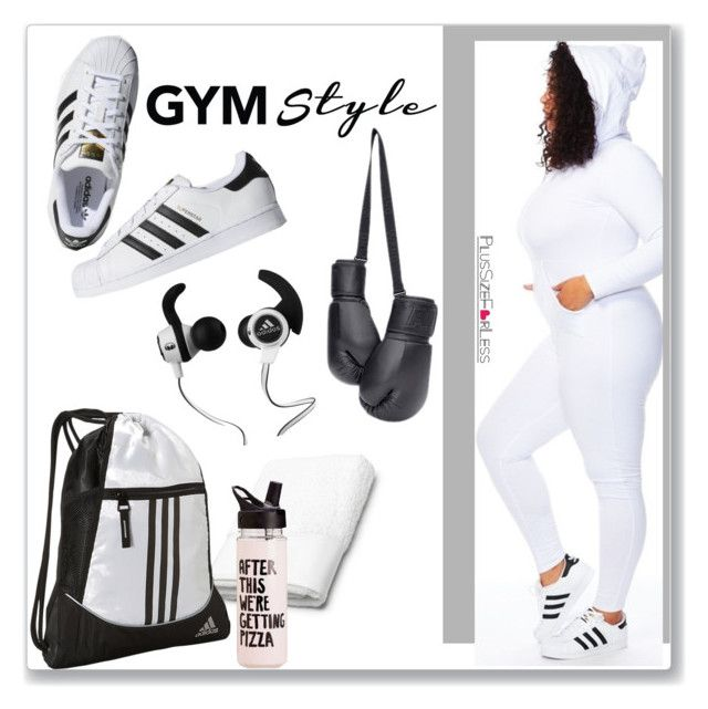 """""""PlusSizeF♥rLess"""" by plussizeforless ❤ liked on Polyvore featuring adidas, Lacoste, Monster, sporty, gym and plussizeforless"""