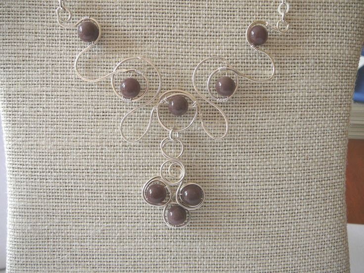 Wire wrapped necklace, Semi precious stones, Wire jewellery, Stone jewellery, Aventurine necklace - pinned by pin4etsy.com