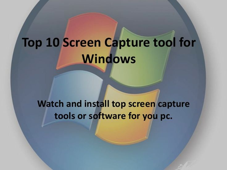 Hello friends, this presentation will show you top 10 screen capture tool for PCs
