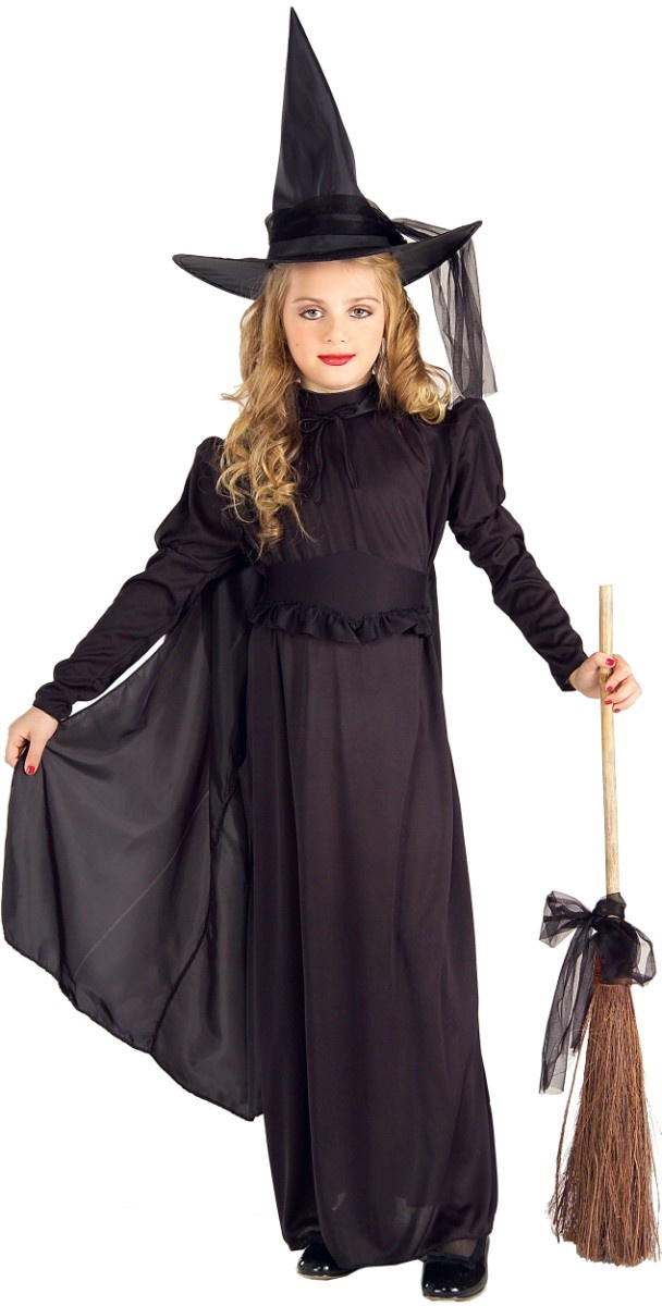 childrens costume girls halloween black witch outfit m girls medium size 8 to by forum - Witch Halloween Costumes For Girls