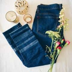Diy Striped Jeans