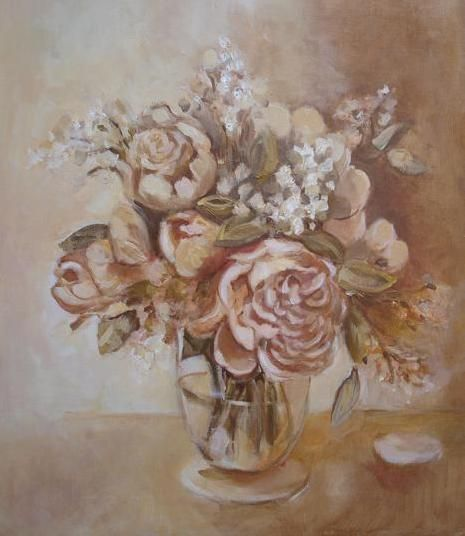PEONY AND LILAC (Painting) przez ANNA  BARDZKA