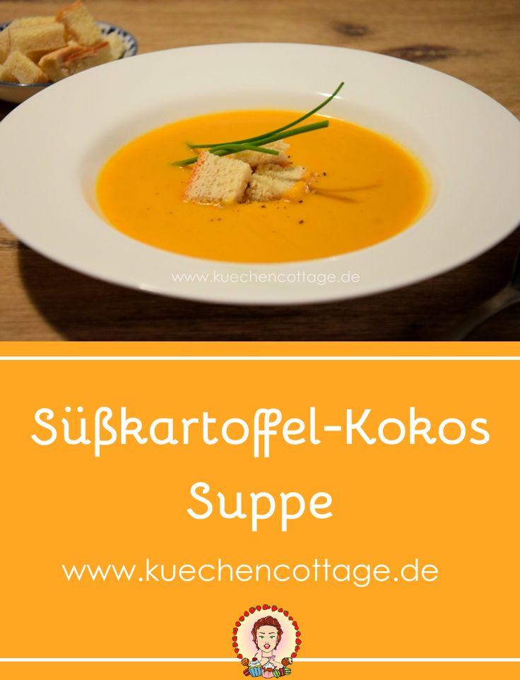 Süßkartoffel-Kokos-Suppe | Küchencottage http://kuechencottage.de/suesskartoffel-kokos-suppe/ Die cremige Süßkartoffel-Kokos-Suppe ist besonders an kalten Tagen ein Genuss. Auf kuechencottage.de findet ihr das tolle Rezept dazu.  #suppe #kokos #süßkartoffel #kochen #rezept #rezeptideen #winter #winterzeit #foodporn #foodie #foodblog #blog #vegetarisch #veggie #cremig