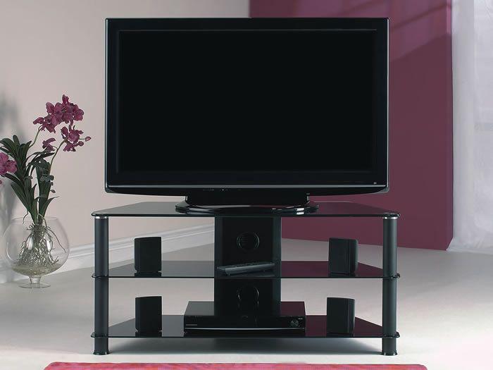 Les 25 meilleures id es de la cat gorie meuble tv en verre noir sur pinterest meuble - Meuble tele en verre ...
