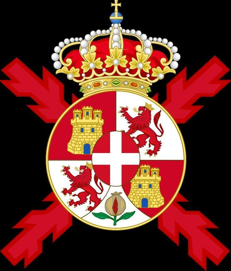 Escudo De España Versión Mostrada En Las Banderas De Los Regimientos 1871 1873 Reinado De Amade Historia De La Bandera Símbolos Masónicos Escudo De Armas