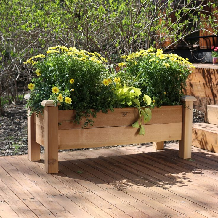 Gronomics Cedar Rustic Planter Box