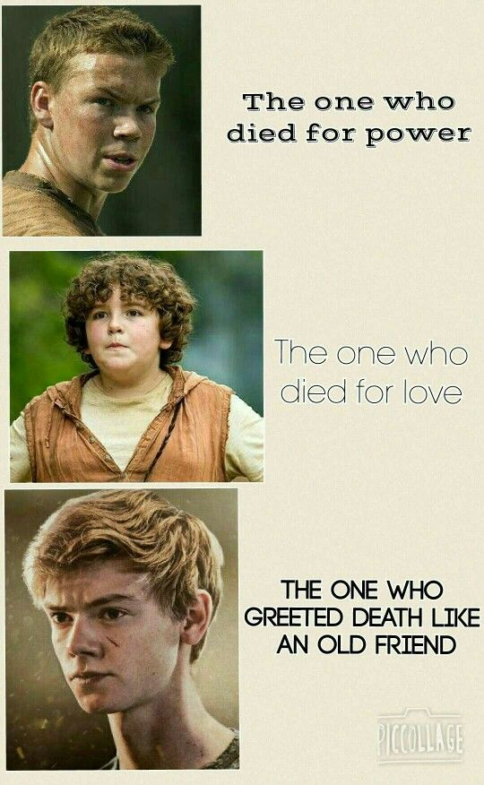 Just made this. Harry Potter and The Maze Runner. << actually Gally didn't die, but this is still awesome!!!