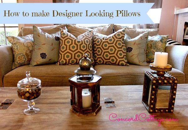 Make your DIY pillows look designer!