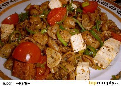 Špaldové mušličky s tofu a zeleninou recept - TopRecepty.cz