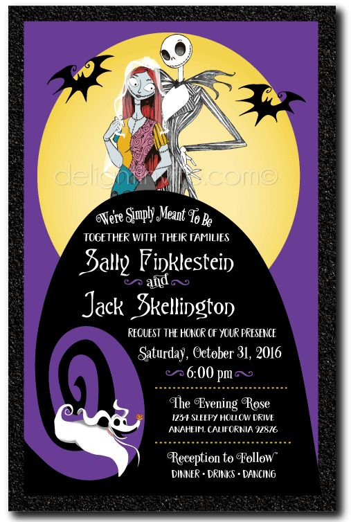 9 best Nightmare Before Christmas Wedding Invitations! images on ...