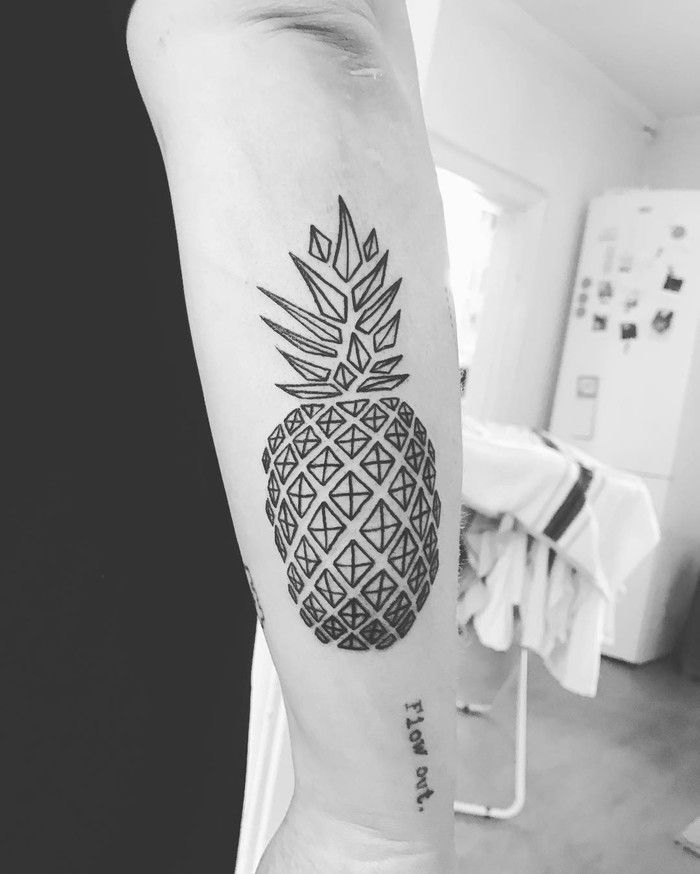 Geometric Pineapple Tattoo by data.pata