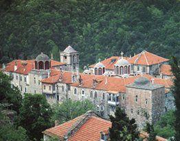 Ιερα Μονή Κωσταμονίτου. Εξωτερική άποψη / Holy Monastery of Kostamonitou. External view.