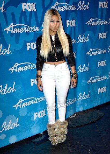 "Nicki Minaj Photos - American Idol Judge Nicki Minaj poses in the press room during Fox's ""American Idol 2013"" Finale Results Show at Nokia Theatre L.A. Live on May 16, 2013 in Los Angeles, California. - Press Room at the 'American Idol' Finale in LA"