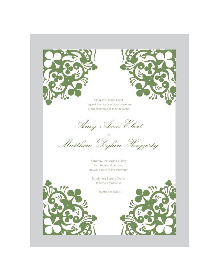 17 best Irish wedding invitations images on Pinterest | Irish ...