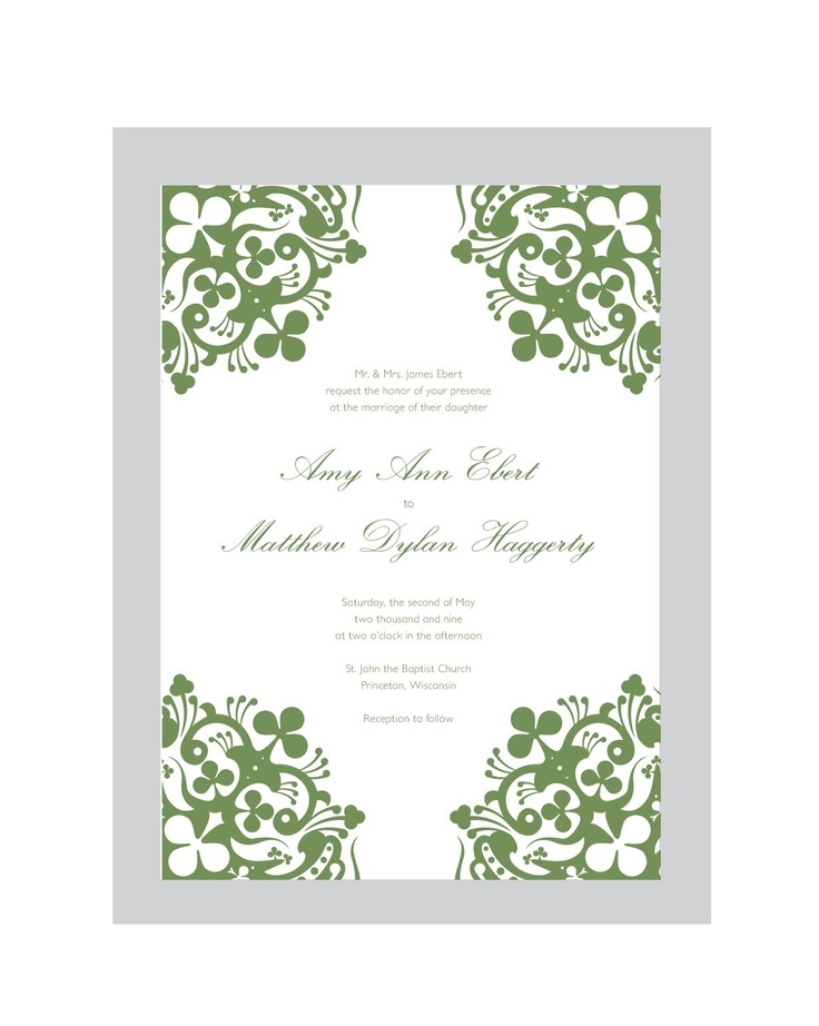 17 best images about irish wedding invitations on With free printable irish wedding invitations