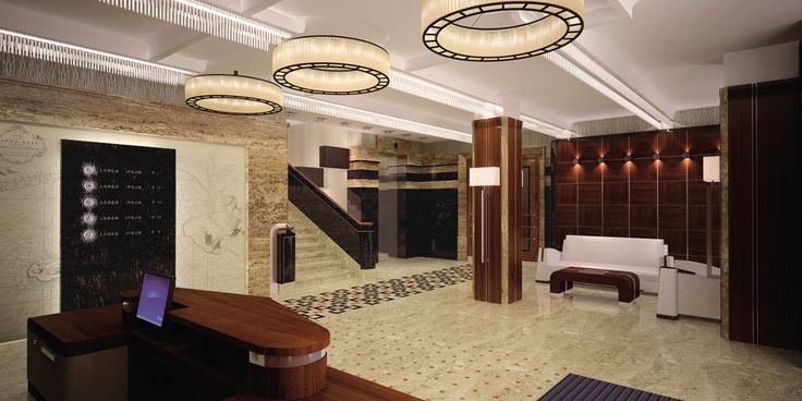 Office lounge hall Foksal Residence