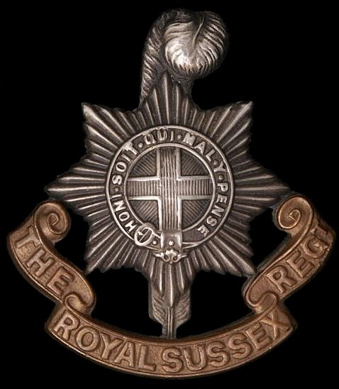 The Badge of the Royal Sussex Regiment