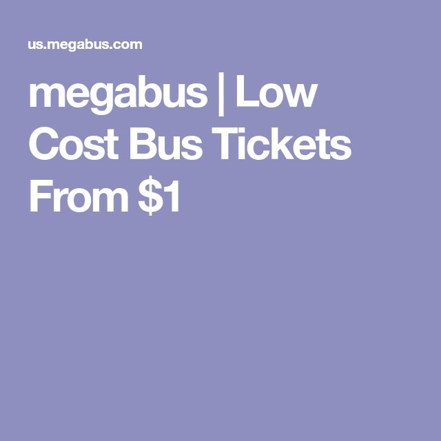 megabus | Low Cost Bus Tickets From $1