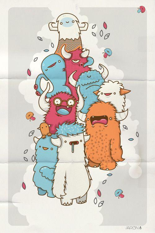 MONSTERS!!! by AARON MARTINEZ, via Behance