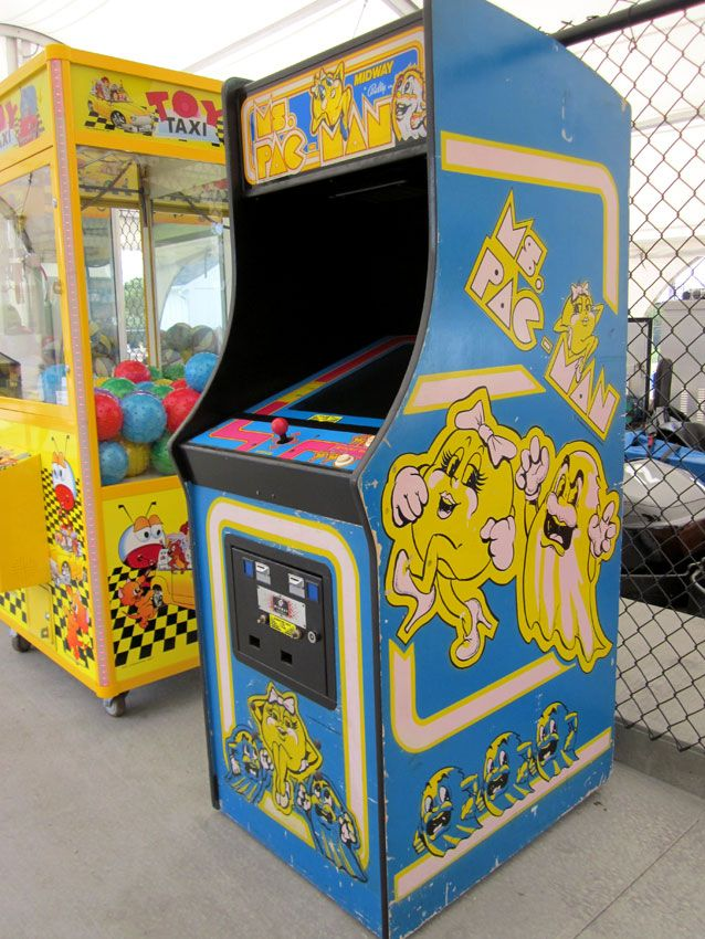 I took my son to the go-kart track & arcade. I noticed a Ms. Pac-Man cabinet next to the track. I was pretty excited to find it, but I was rather distressed by it's location. Outside!!! I began thinking I should find a hand-truck and rescue that poor cabinet from the heat. There should be a rescue organization who would dispatch a team to remove the cabinet, fine the owners & find a proper home for Ms. Pac-Man. Had that cabinet been a pet in a hot car, then someone would have cared.
