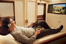 A world of your own  The Singapore Airlines Suites, exclusively on board the A380 aircraft, provide the distinguished few with their very own haven of tranquility.
