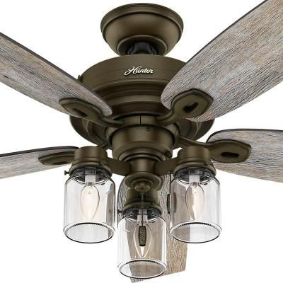 Indoor Regal Bronze Ceiling Fan Living Room