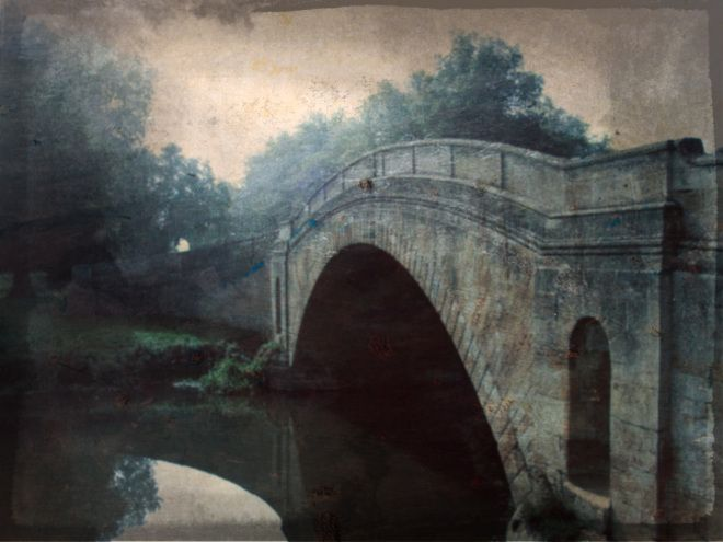 Day 25: bridge. I aged and grunged this photo of the bridge to Tyringham House in Buckinghamshire. For me, memory is a series of photo editi...