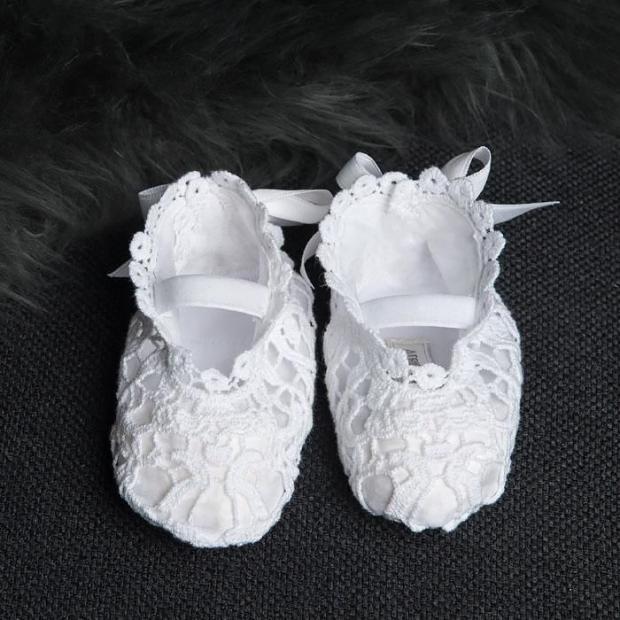 c79c7890da7a0 Grace White Christening Booties | Christening Gowns | Lace booties ...