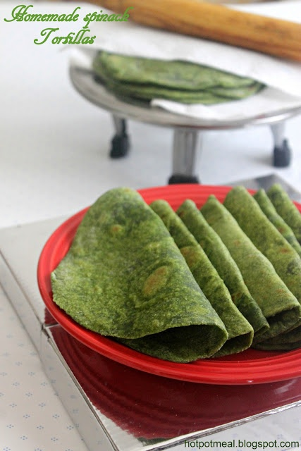 Homemade spinach tortillas - easy, healthier, and tasty!