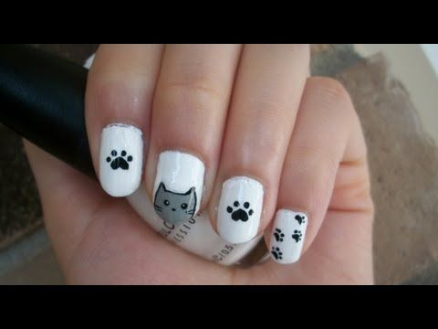 The 25 best cat nail designs ideas on pinterest cat nail art cat nail art design youtube prinsesfo Choice Image