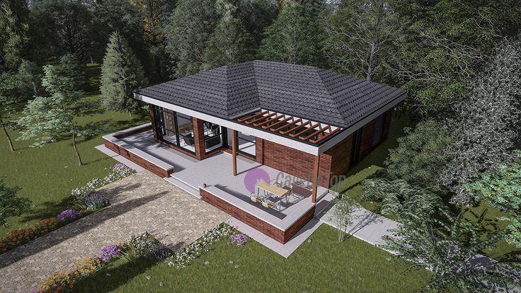 Casa mica parter- Vedere aeriana   Small house- Aerial view   Etichete: proiecte case mici