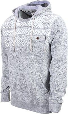 Vans Flurry Hoodie - lunar rock heather - Men's Clothing Hoodies Sweaters Hoodies Pullover Hoodies ($58.00) - Svpply