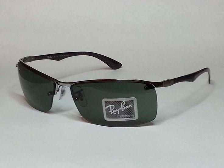 Ray-Ban Men Sport Sunglasses RB8315 Black carbon fiber side bars  #RayBan #Sport