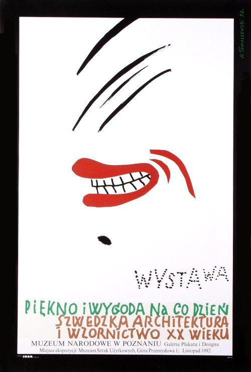 Swedish Design, Polish Poster, Tomaszewski