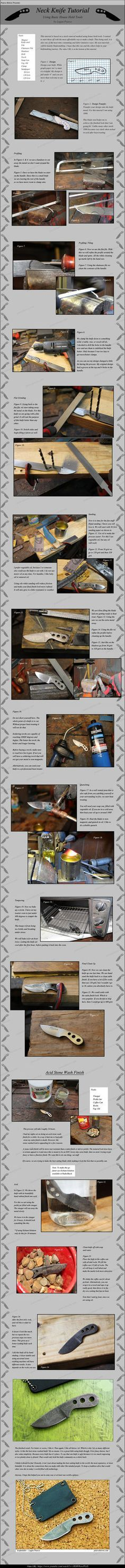 Neck Knife Tutorial by Logan Pearce Knives. by Logan-Pearce on DeviantArt