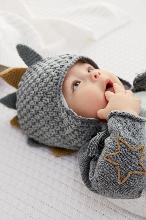 BABY CHRISTMAS GIFT Grey Knit Trapper Hat 0-18mths by RhyayFashion