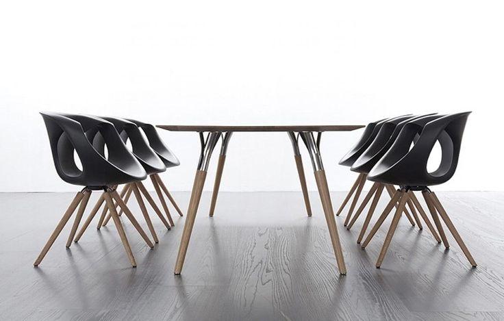 Moderné stoličky do jedálne drevené talianske