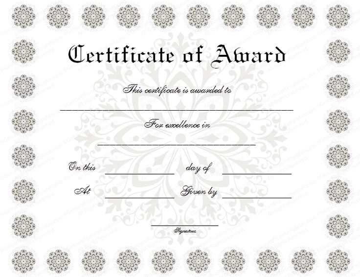 Sample award certificates 20 best certificate templates images on best 25 award certificates ideas on pinterest award template sample award certificates yelopaper Image collections
